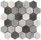 hexagon mix grey