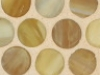 Butterscotch Silk Pennyround Mosaic