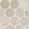 Ivory Silk Pennyround Mosaic