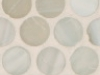 Ivory Silk Pennyround Mosaic