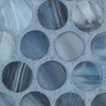 Storm Blue Silk Pennyround Mosaic