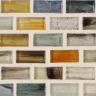 """Ahou Natural   1""""x1""""  Minibrick Mosaic"""