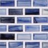 "Antimony Natural  1""x1""  Minibrick Mosaic"