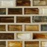 "Copper Natural   1""x1""  Minibrick Mosaic"