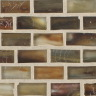 "Copper Silk   1""x1""  Minibrick Mosaic"