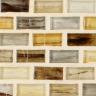 "Indium Natural   1""x1""  Minibrick Mosaic"
