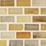 "Indium Silk   1""x1""  Minibrick Mosaic"