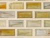 """Xenon Natural   1""""x1""""  Minibrick Mosaic"""