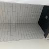 TONALITE MILK WALLS  - BLACK FLOOR