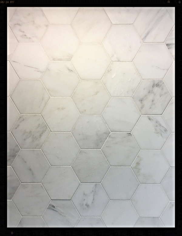 Pearl White 5 Inch Hex H